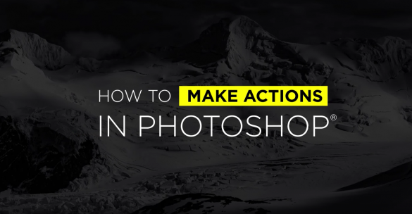 how to make actions in photoshop