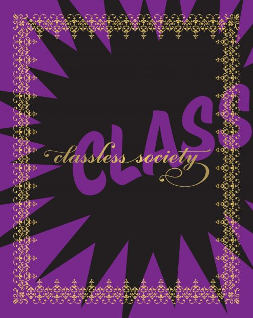 Learn the about the book cover design of Classless Society by B Glauber