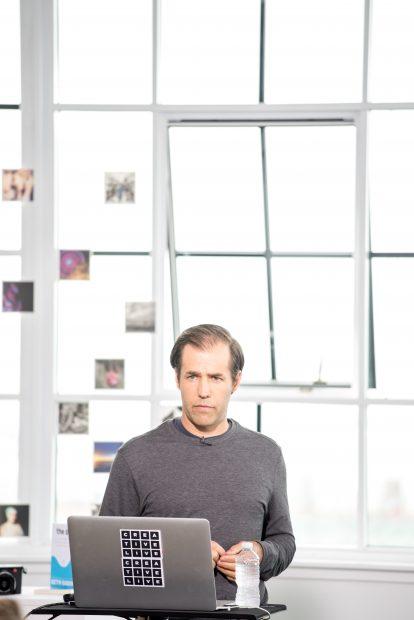 Adam Senatori giving his inspirational In Focus talk during Photo Week 2016