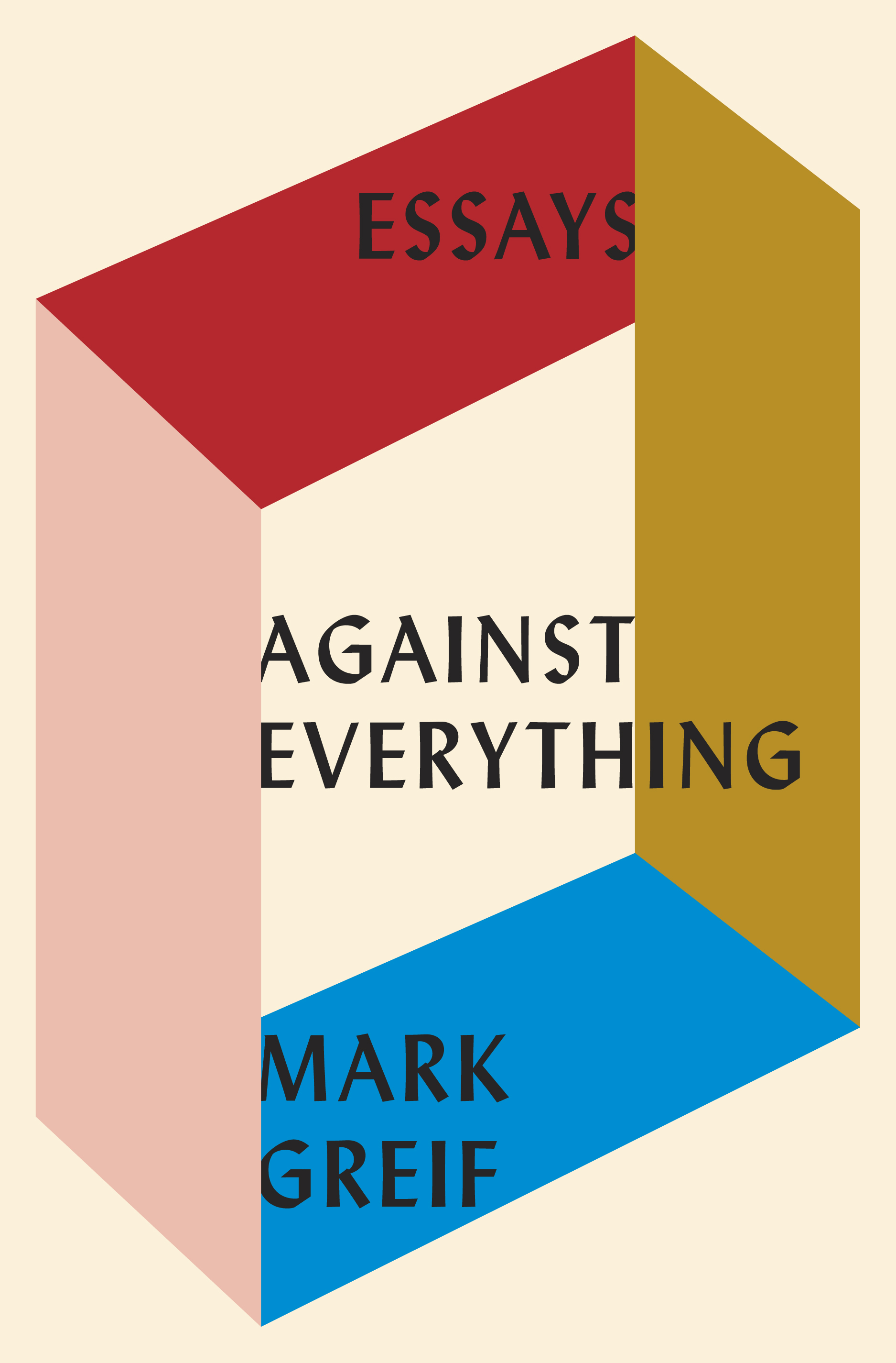 Learn the about the book cover design of Essays Against Everything