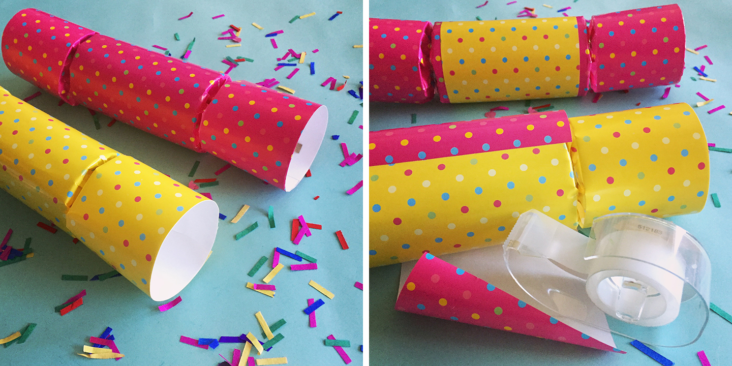 Party crackers, traditionally known as Christmas Crackers, can easily be dressed up as a DIY party favor to celebrate any occasion!
