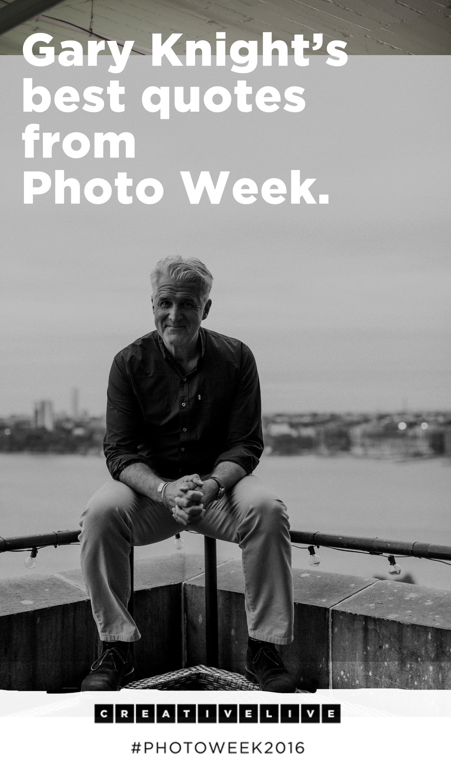 Photojournalist Gary Knight has had an amazing career, and he shares some of his best thoughts, insights, and moments in his Photo Week 2016 presentation. Get his best quotes in this blog post!
