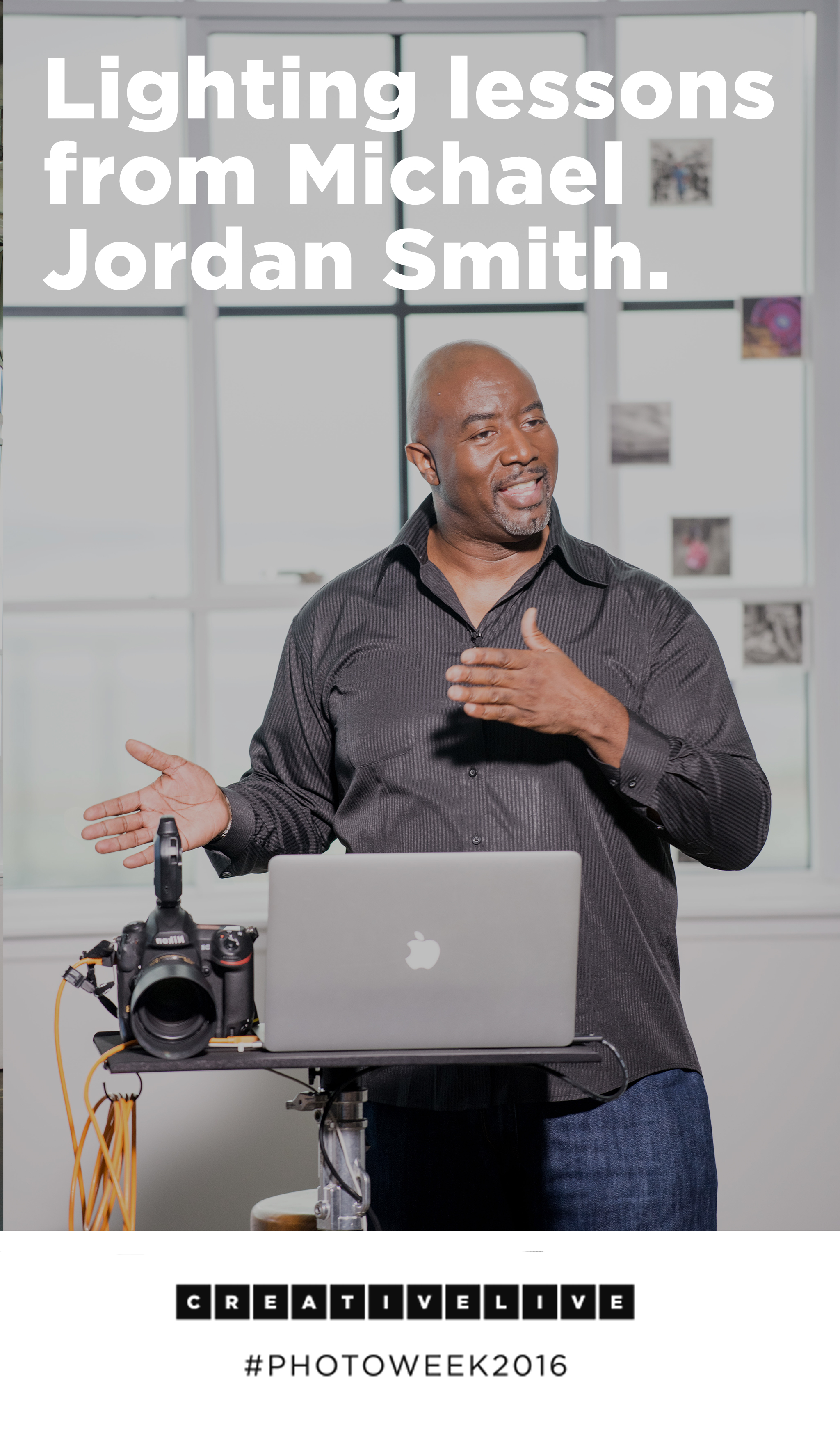 Michael Jordan Smith is an award winning photographer that loves light. He waxed poetic about lighting during Photo Week 2016. Get his best lessons here!