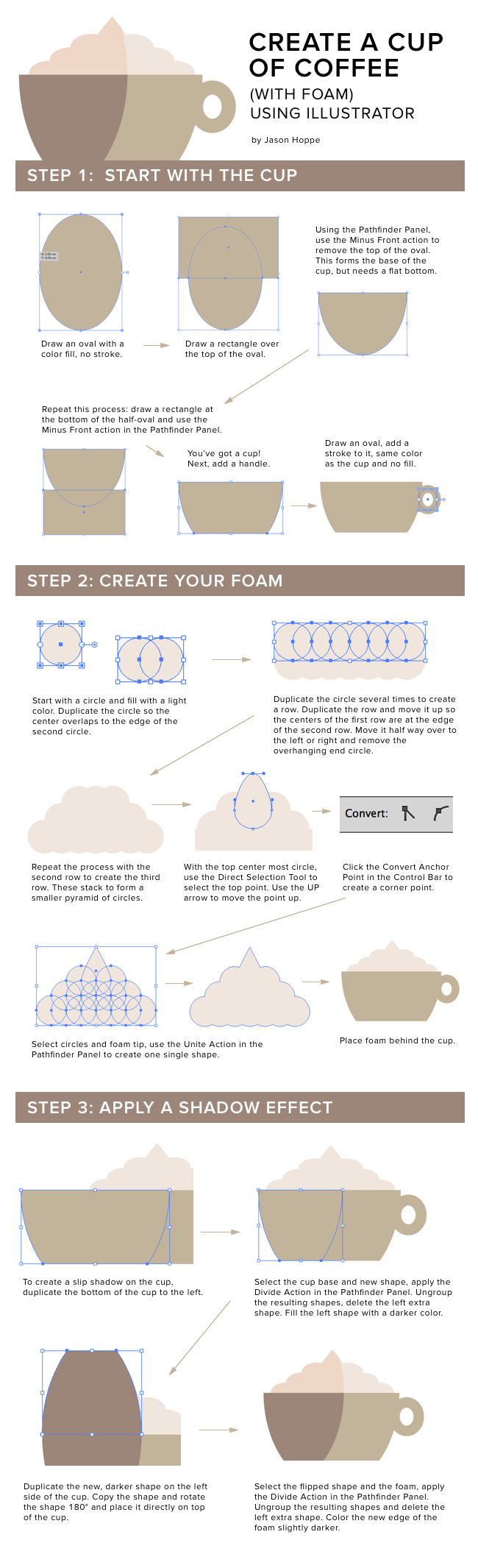 Graphic Design Tip: How to Create a Coffee Cup from Jason Hoppe and CreativeLive.