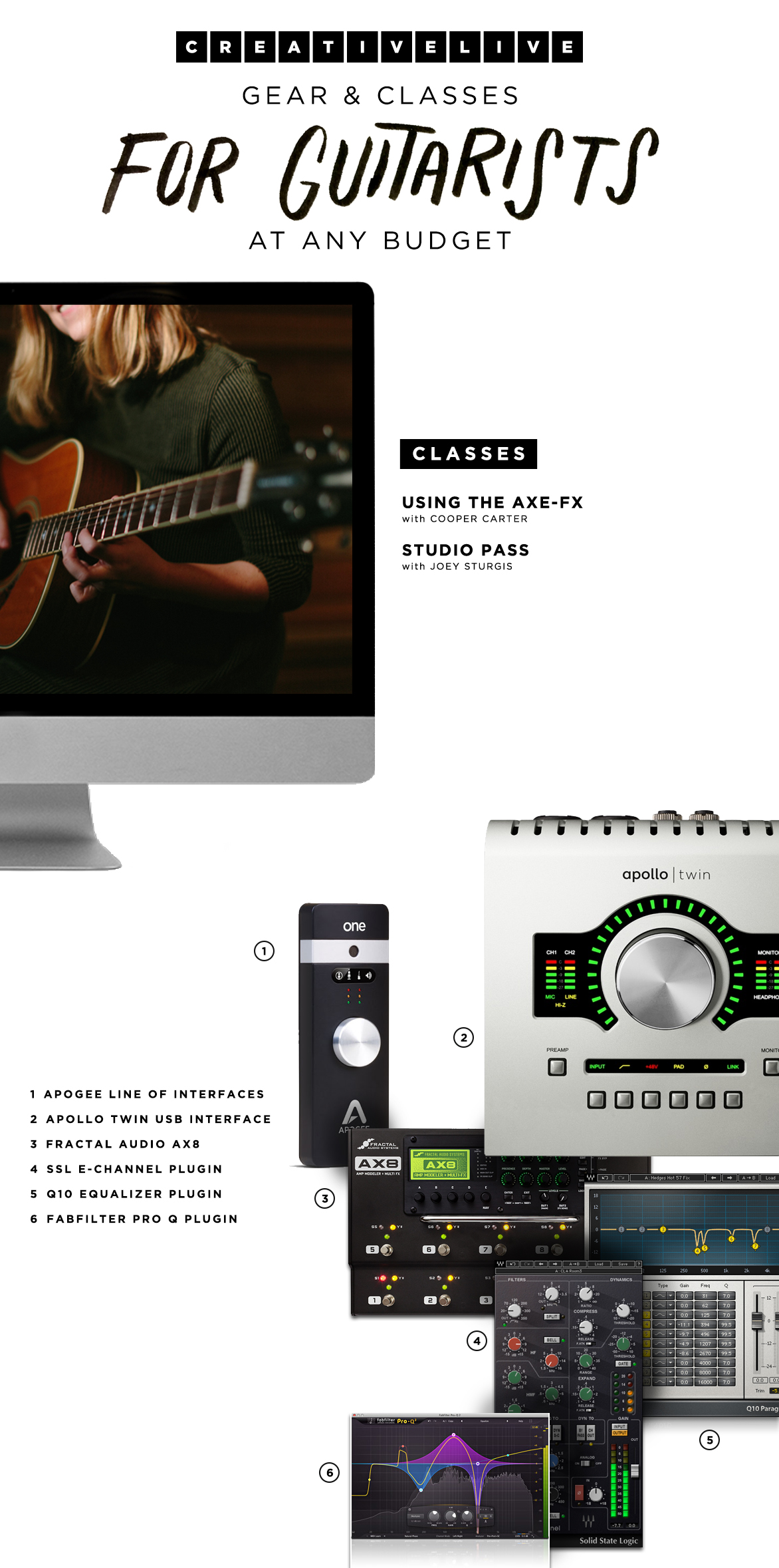 Gift_Guide_Audio_Hi_ResGear & classes for guitarists at any budget