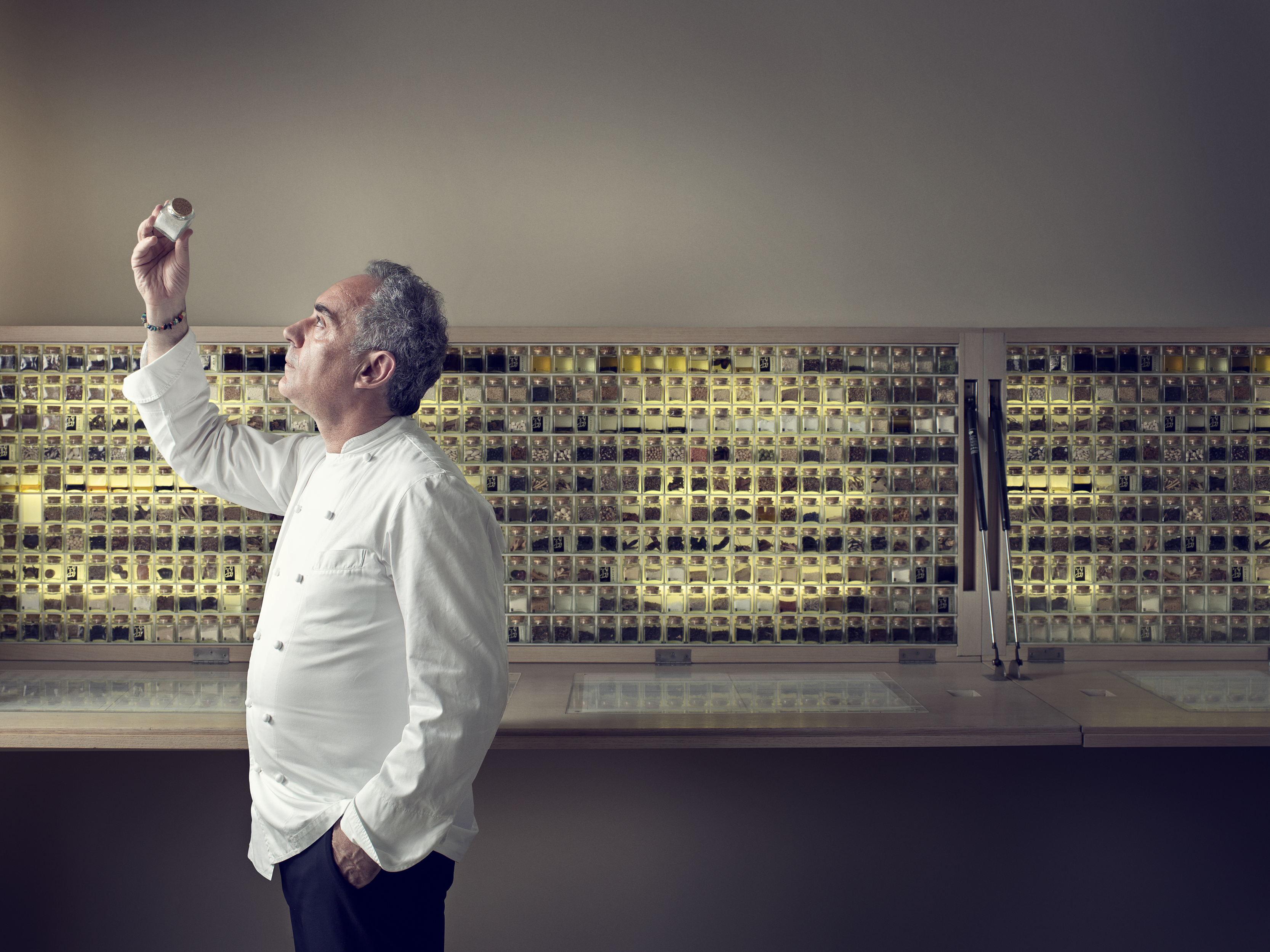 Portrait of chef Ferran Adria in Barcelona by John Keatley for Wired UK.