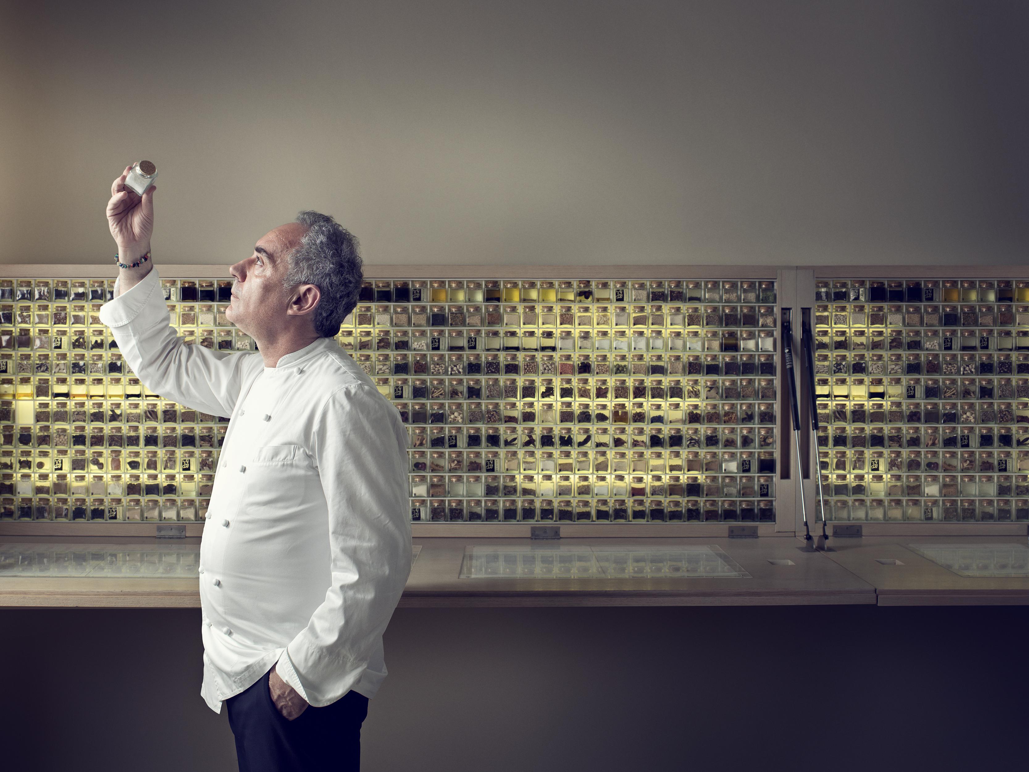 Portrait of chef Ferran Adria in Barcelona by John Keatley for Wired UK.