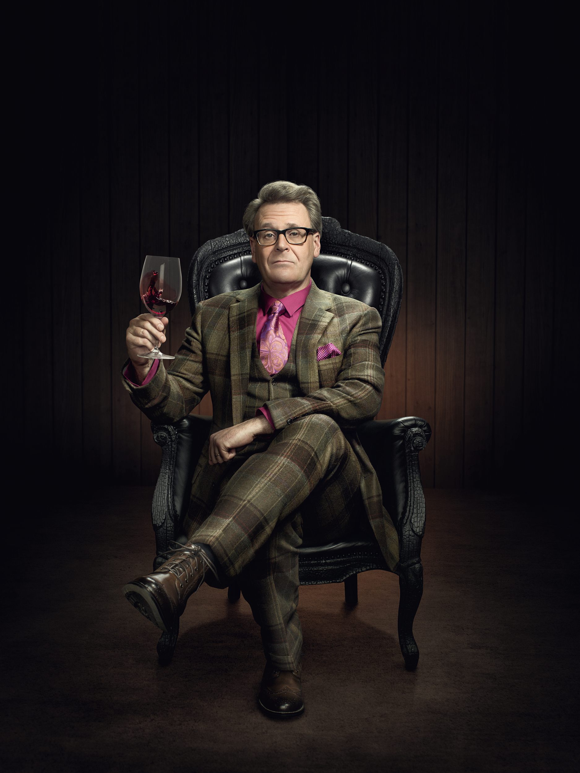 Portrait of Gregg Proops as The Recommendeuer for Washington Wine Commission by John Keatley