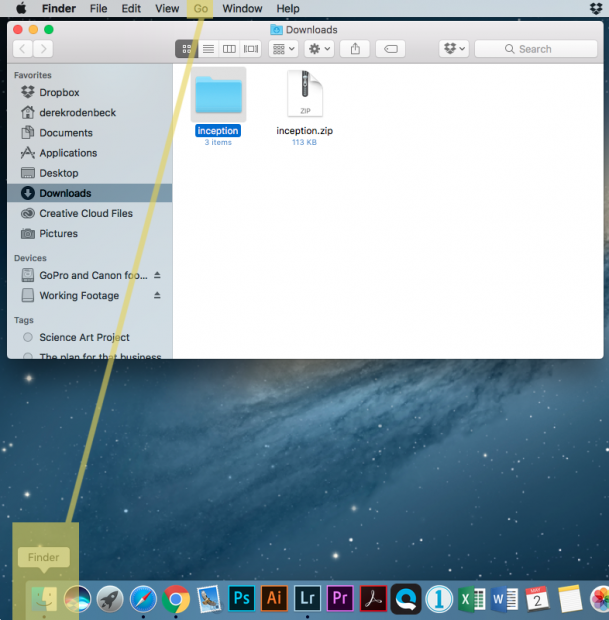 How to install fonts on a mac creativelive blog step 1 open a new window where the font file is located usually its the downloads folder ccuart Images