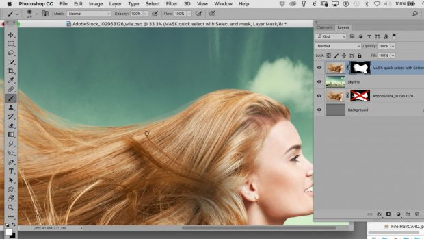 How to mask hair in photoshop
