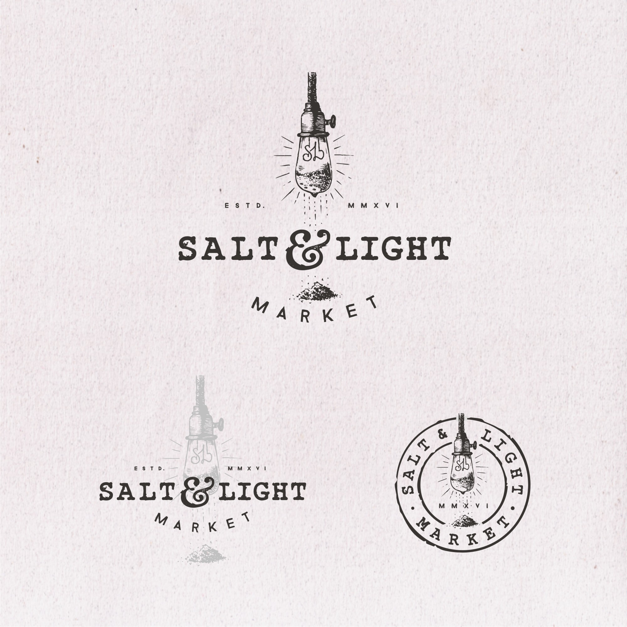 Contest entries for Salt & Light in their 99designs logo contest.