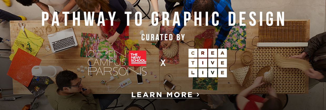 Learn more about the CreativeLive x Parsons online graphic design program