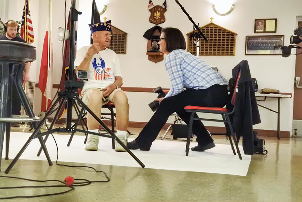 Stacy Pearsall is the creator of Veterans Portrait Project.
